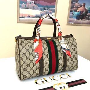 Gucci GG Pattern Sherry line Boston Handbag 👜